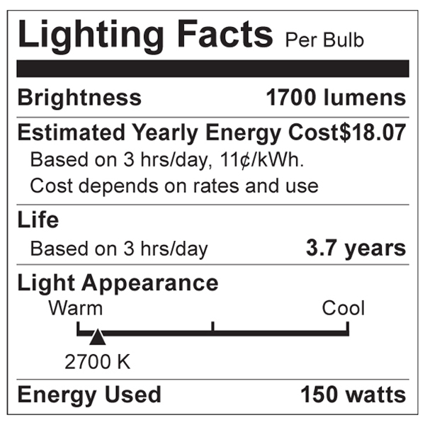 S3014 Lighting Fact Label
