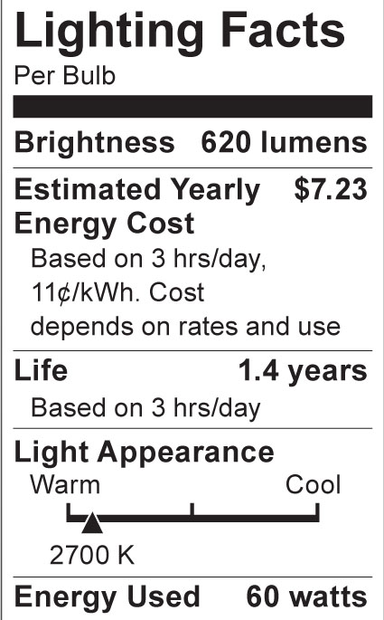 S3378 Lighting Fact Label