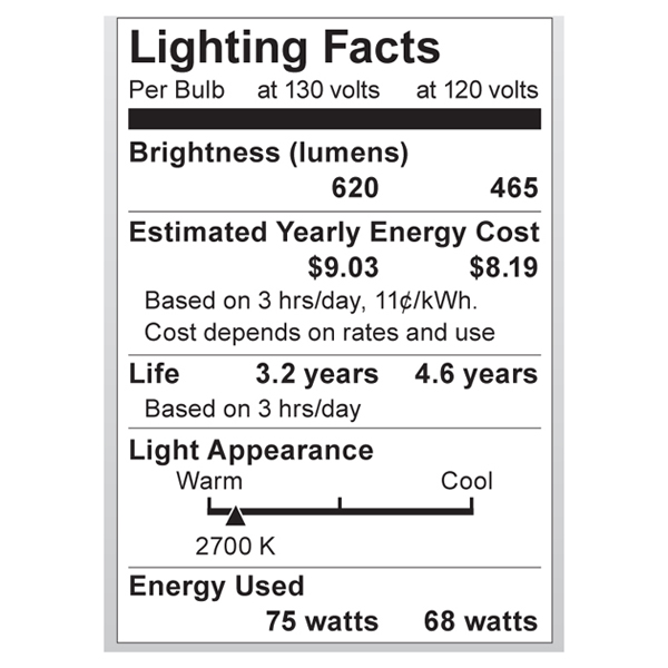 S3972 Lighting Fact Label