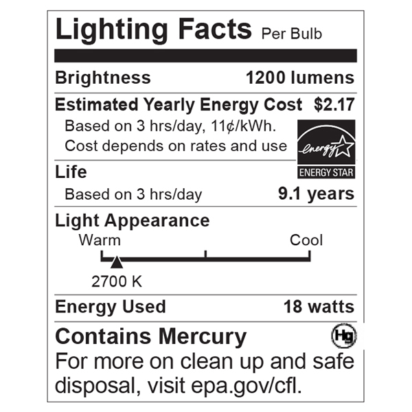 S5302 Lighting Fact Label