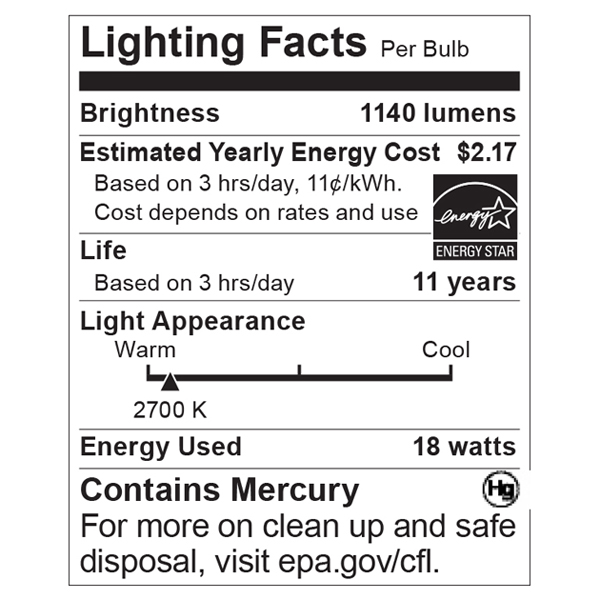 S5541 Lighting Fact Label