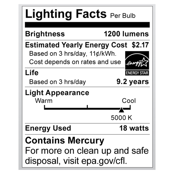 S7226 Lighting Fact Label