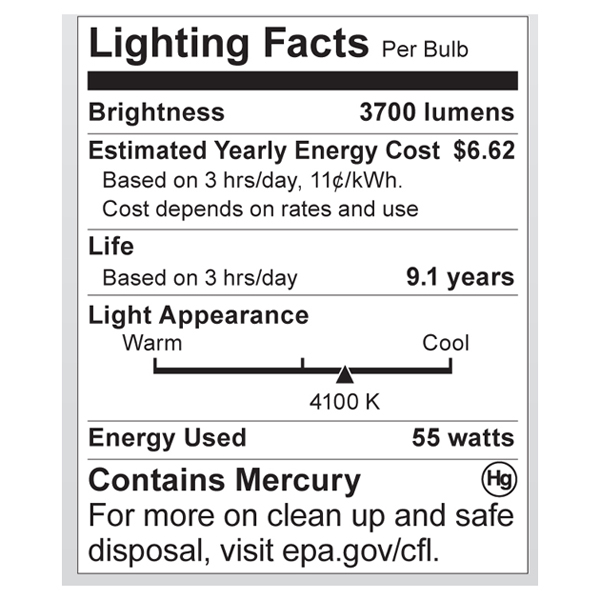 S7338 Lighting Fact Label