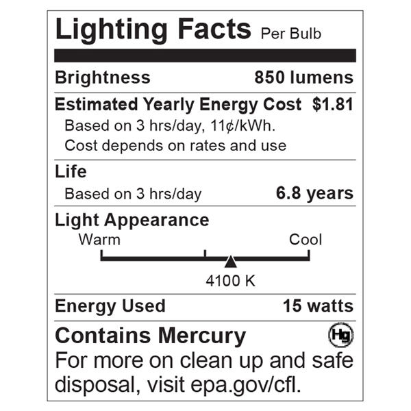 S7949 Lighting Fact Label